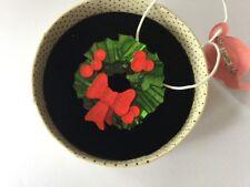 Erstwilder Brooch Pin Deck The Halls Christmas Wreath