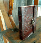 """Chakra Symbol of Success Journal Wealth Sign Leather Journal Diary 1 Lock 8x6"""""""