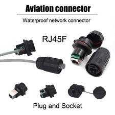 RJ45 Enchufe Conector Impermeable Cat5e Cat6 enchufe Ethernet Patch Cable de red LAN