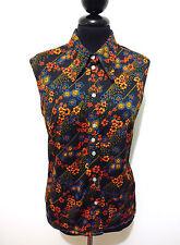 Cult Vintage '70 Women's Shirt Jersey Flower Woman Shirt Sz. M - 44