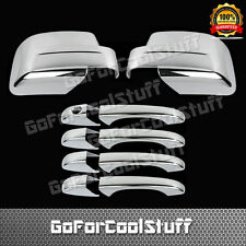 For Jeep Patriot 08-12 4Drs Handle W/O Pskh+Full Mirror 2Pc Chrome Covers
