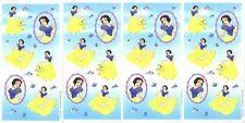 4 Sheets DISNEY PRINCESS Scrapbook Stickers! SNOW WHITE