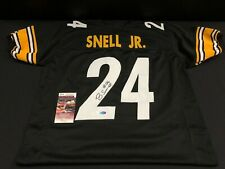 BENNY SNELL JR. PITTSBURGH STEELERS SIGNED CUSTOM BLACK JERSEY JSA WITCOA + HOLO