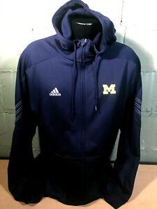 AdIdas University of Michigan Warmup Hoodie Soccer Basketball Men's Large