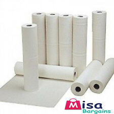 "12 x Hygiene Couch Bed Roll Tissue White 20"" rolls 40m perforated Salon Dental"