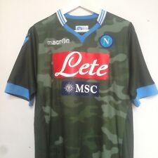 5be2ddc30613b Napoli 2013-14 Away Jersey Soccer Football Camo Camouflage Short Sleeve  Vintage