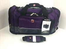 SWISS GEAR Sport Duffel Bag Purple Gray Black Travel Gym SA9000 New