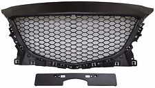 Mazda3 Mazda 3 Front Hood Grille Grill 2014-2016 Unpainted Honeycomb Style