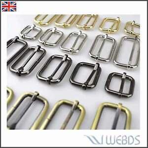 Metal Tri Glide 32mm Webbing sliding bar strap For Leather bag backpack strap