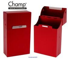Cigarette Case - Champ Aluminium Red Metal Flip Top Superking Packet - NEW
