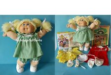 Vintage 1980s CPK Blonde Cabbage Patch Kids Girl Doll Signed OK Tag Coleco Lot