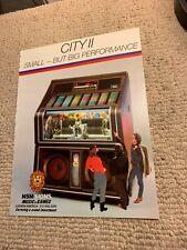 11- 8 1/4� Nsm Jukebox City 2 1986. arcade game Ad Flyer