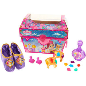 Shimmer and Shine Dress Up Trunk 20 Pieces Slippers Gems Bangles & Barrettes