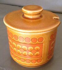 Vintage Hornsea Saffron preserve jar and lid