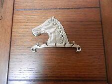 Brass Horse Head Wall Key Holder,Horse REins, Jewelry, 5 Hooks