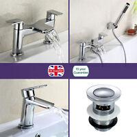 Bathroom Chrome Luxury Waterfall Basin Sink Mono Round Bath Filler Mixer Tap