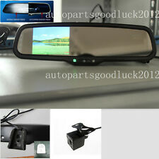 "Auto dimming mirror+3.5""LCD,fit Ford,Toyota,Nissan,Hyundai,uk,include camera"