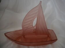 Art Deco Pink Glass Yacht Float Bowl Centrepiece