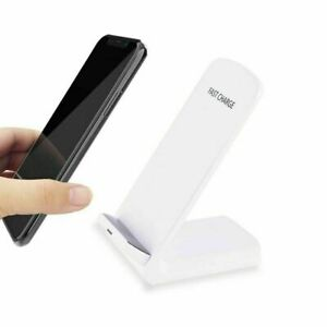 New Universal Qi Wireless Fast Charger Charging Pad Stand Dock White