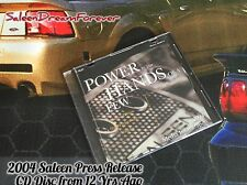 2004 PRESS RELEASE SALEEN MEDIA INFO CD DISC & CASE FORD MUSTANG S281 FOCUS S7