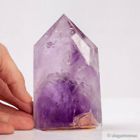 630g 121mm Natural Purple Amethyst Quartz Crystal Point Obelisk Tower Healing