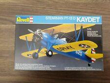 Revell 1:72 Stearman PT-13 D Kaydet Plastic Model Kit #4116 COMPLETE, MINT.