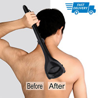 UK Mens DIY Back Hair Remover Body Shaver Grooming Razor Dry Wet Leg