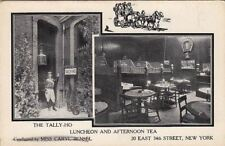 Postcard The Tally-Ho Luncheon and Afternoon Tea NY