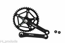 Black Forged 46t Crank Set Single Speed Fixie Track Bike Crankset 170mm W/ Bolts