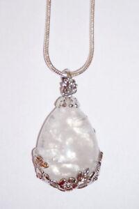 Silberkette mit Bergkristall-Anhänger