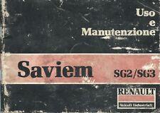 Saviem SG2/SG3 Uso e Manutenzione 1979 - Renault Veicoli industriali Autocarro