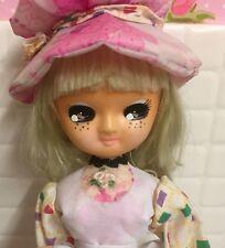 Lovely Vintage Big Eyed Girl Pose Doll Pink Dress Bradley Style Blythe