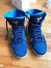 Nike Kobe 9 IX Elite High Legacy Brave Blue DS size 10.5 630847-404 zoom air hi