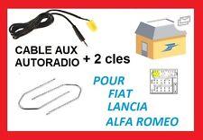 Cable auxiliaire aux pour MP3 autoradio FIAT grande punto 2 de 2006 + 2 clés