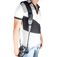 New JJC NS-Q2 Neoprene with 2pockets Shoulder fatigue Neck Strap for DSLR Camera
