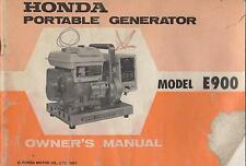 PRINTED 1971 HONDA PORTABLE GENERATOR E900 OWNERS MANUAL (677)