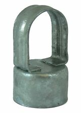 """Chain Link Fence EYE TOP: for 2-3/8"""" Line Post x 1-5/8"""" Top Rail - Pressed Steel"""