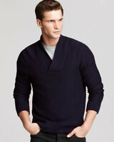 NEW MENS BLOOMINGDALES V NECK CASHMERE WOOL RAISIN PULLOVER SWEATER XL