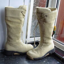 WOMEN'S CREAM BUMPER BOOTS SIZE 36  UK 3.5