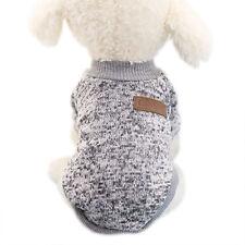 Pet Dog Warm Clothes Coat Apparel Jumper Sweater Puppy Cat Knitwear Costume Grey