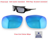 Polarized Replacement Lenses For-Oakley Fives Squared 9238 Sunglasses Ice Blue