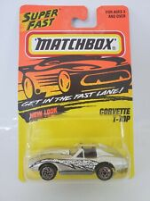 1996 Matchbox 1975 Corvette T-Top #58 - Silver w/Graphics - China Base