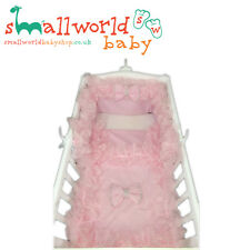Personalised Girls Pink Frilly Bling Swinging Crib Bedding (NEXT DAY DISPATCH)