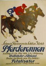 Original Plakat - Schweiz. Rennverein - Pferderennen Zürich-Wollishofer Allmend