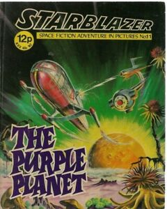 THE PURPLE PLANET,STARBLAZER SPACE FICTION ADVENTURE IN PICTURES,COMIC,NO.11
