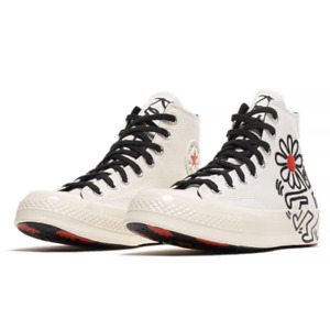 Converse x Keith Haring Chuck 70 Hi Shoes White Size 7.5 M /  9.5 W *SHIPPED*