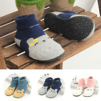 Kids Slippers Socks Boys Girls Baby Walkers Shoes Rubber Soles Non Skid Protect
