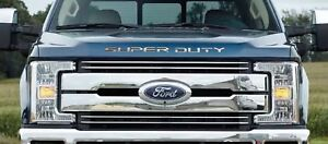 Premium Hood Grille Stainless Steel Letters for 2017-2021 Ford F250 Super Duty