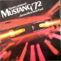 1972 Ford Mustang Mach 1 Grande SportsRoof Convertible Sales Brochure Original