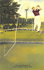 Niles IL Lew Worsham Winner Tam O'Shanter Country Club Linen Curt Teich Postcard